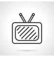 TV black simple line icon vector image