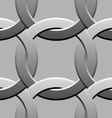 twisted rings seamless pattern vector image vector image