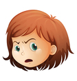 A head of an angry child vector image vector image