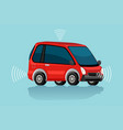 a red electric car vector image vector image