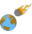 Asteroid collision vector image vector image