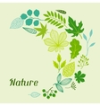 background stylized green leaves vector image vector image