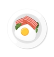 bacon and eggs vector image vector image