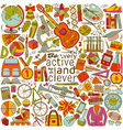 Be active and clever background vector image vector image