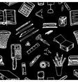 Black and white background- office stationery vector image vector image