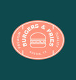 burger logo retro styled fast food emblem badge vector image vector image