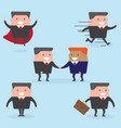businessman cartoon business and people concept vector image