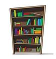 Cartoon of a bookshelf vector image vector image