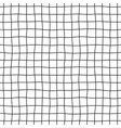 cell hand drawn seamless pattern grid dark vector image vector image
