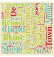 Chamonix Mont Blanc text background wordcloud vector image vector image