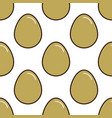 chicken eggs seamless pattern background flat vector image vector image