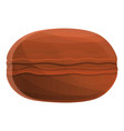 chocolate macaroon icon cartoon style vector image vector image