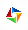 circle shape colorful technology logo vector image vector image
