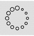 Circular loading sign vector image vector image