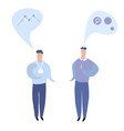 conversation of two business men flat vector image