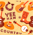 country music seamless pattern colorful musical vector image