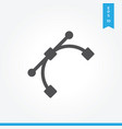 curve icon simple sign for web site and mobile app vector image