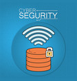 cyber security technology vector image