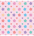 daisy floral seamless design pattern vector image vector image