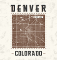 denver streets t shirt design with city map vector image vector image