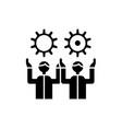 development team black icon sign on vector image