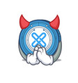 Devil gxshares coin mascot cartoon