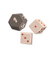 dice cubes board game element vector image