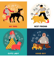 dog owners design concept vector image vector image