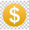 dollar coin gradient icon vector image vector image