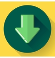 Download icon Upload button Load symbol Flat vector image vector image