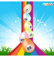 Easter bingo eggs and rainbow vector image vector image