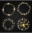 fireworks sparkles in circles 3d realistic vector image