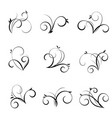 flourishes and swirls collection vector image vector image