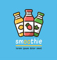 food logotype with three smoothies vector image vector image