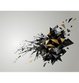 geometric abstract banner with black color