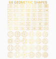geometric line shapes vector image