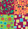 geometric set pattern geometric elements vector image vector image