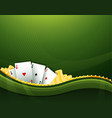 green casino gambling background elements vector image vector image