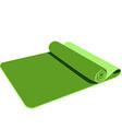 Green yoga mat vector image vector image