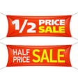 half price banners vector image vector image