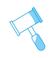 hammer law icon vector image vector image