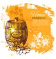 hand drawn sketch Honey background vector image vector image