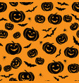 happy halloween seamless pattern holiday party vector image vector image