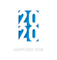 happy new year 2020 cover business diary vector image vector image