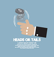 Heads Or Tails Cast Lots Concept vector image vector image