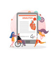 heart health concept for web banner vector image vector image