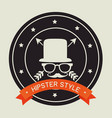 hispter lifestyle and fashion vector image