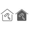 home repair line and glyph icon real estate vector image vector image