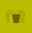 icon in flat design plant in a pot vector image