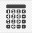 icon of a simple calculator vector image